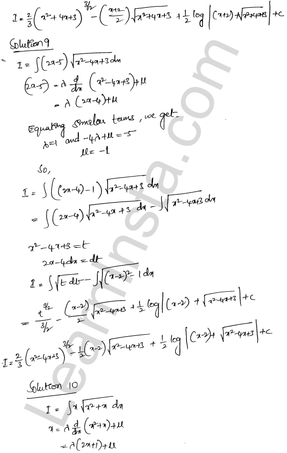 RD Sharma Class 12 Solutions Chapter 19 Indefinite Integrals Ex 19.29 8