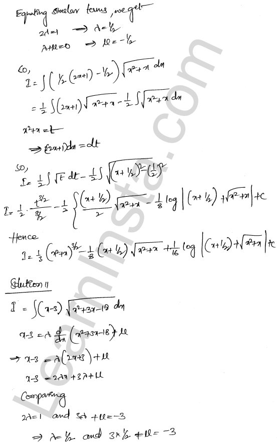 RD Sharma Class 12 Solutions Indefinite Integrals Chapter 19 Ex 19.29 9