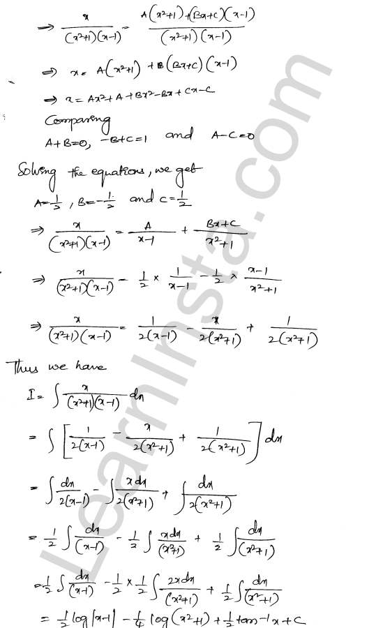 RD Sharma Class 12 Solutions Indefinite Integrals Chapter 19 Ex 19.30 10