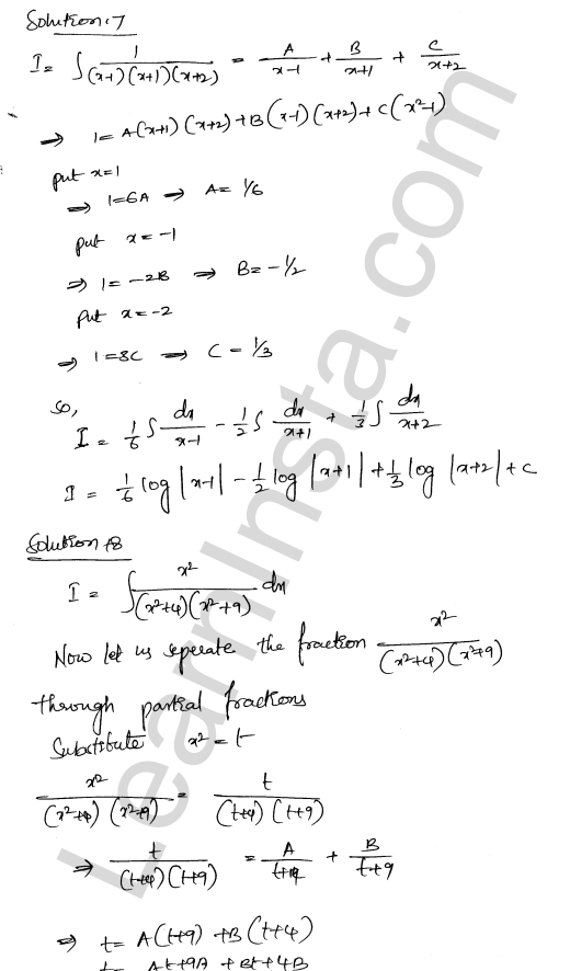 RD Sharma Solutions Class 12 Indefinite Integrals Chapter 19 Ex 19.30 11