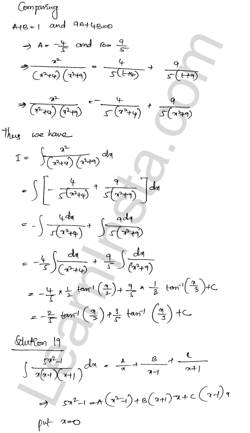RD Sharma Solutions Class 12 Indefinite Integrals Chapter 19 Ex 19.30 12