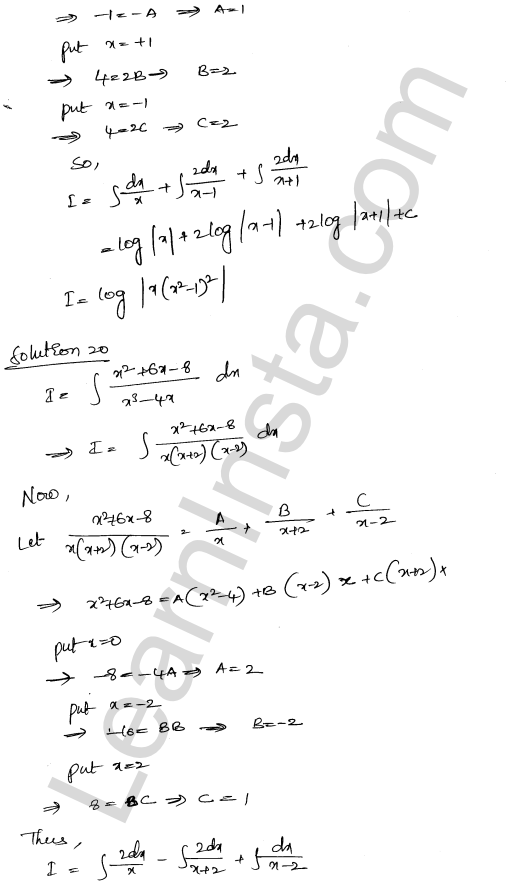 RD Sharma Solutions Class 12 Indefinite Integrals Chapter 19 Ex 19.30 13