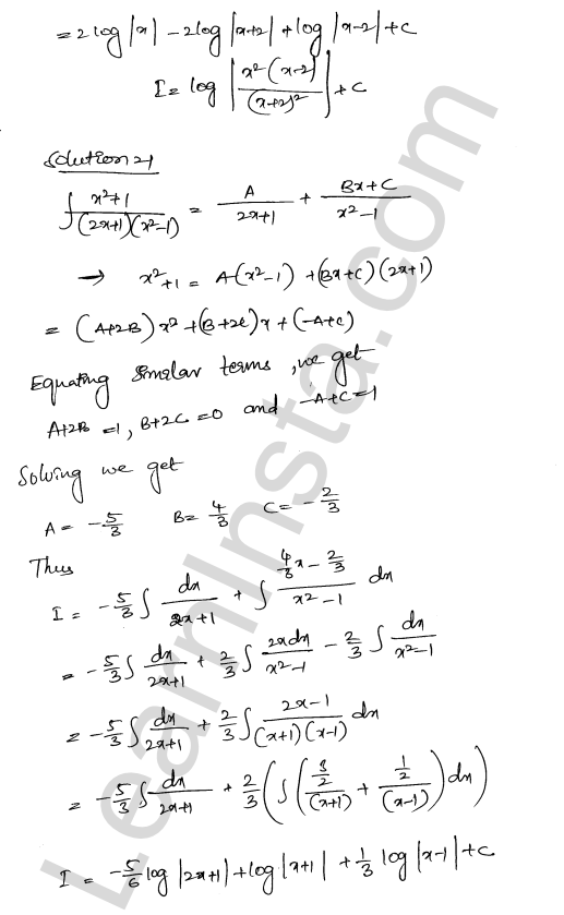 RD Sharma Solutions Class 12 Indefinite Integrals Chapter 19 Ex 19.30 14