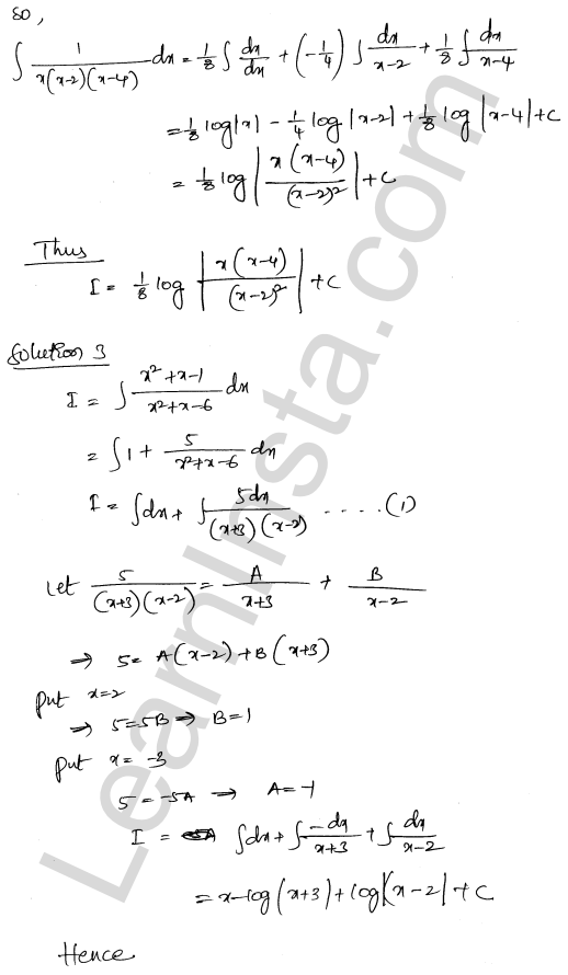 RD Sharma Class 12 Solutions Chapter 19 Indefinite Integrals Ex 19.30 2