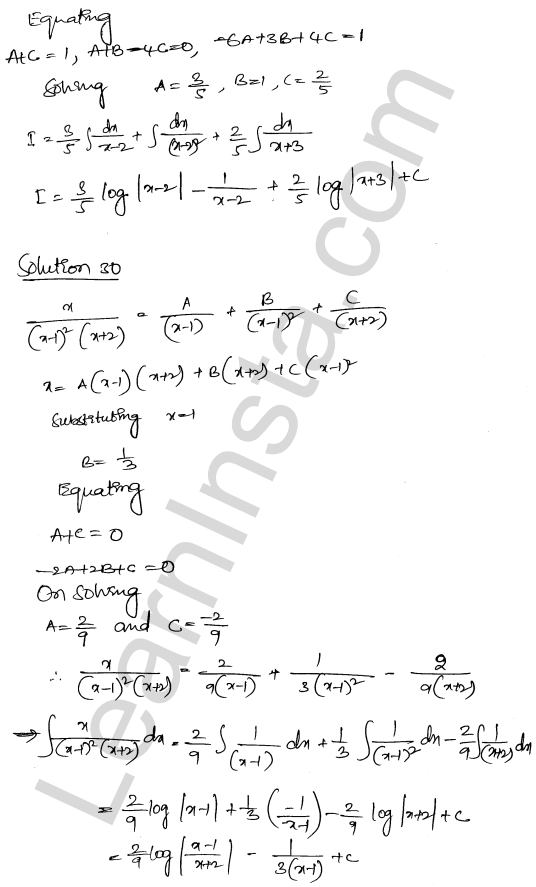 RD Sharma Class 12 Maths Solutions Chapter 19 Indefinite Integrals Ex 19.30 20