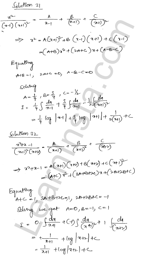 Solution of RD Sharma class 12 chapter 19 Indefinite Integrals Ex 19.30 21