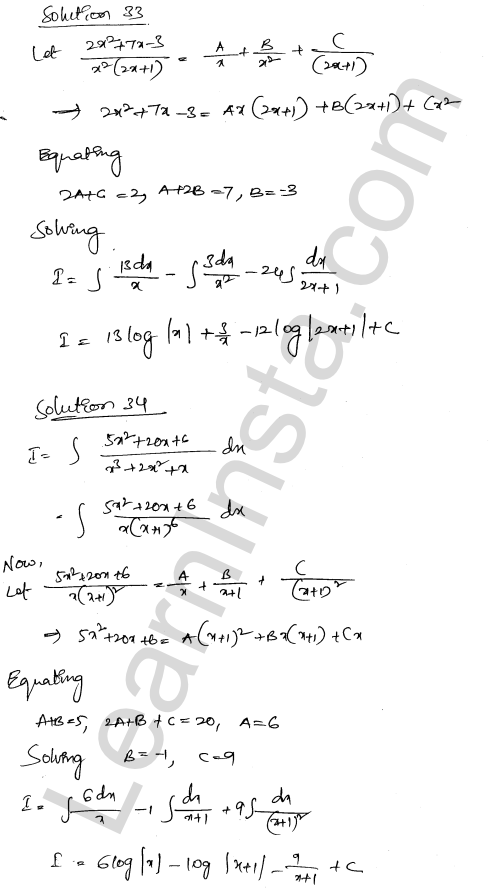 Solution of RD Sharma class 12 chapter 19 Indefinite Integrals Ex 19.30 22