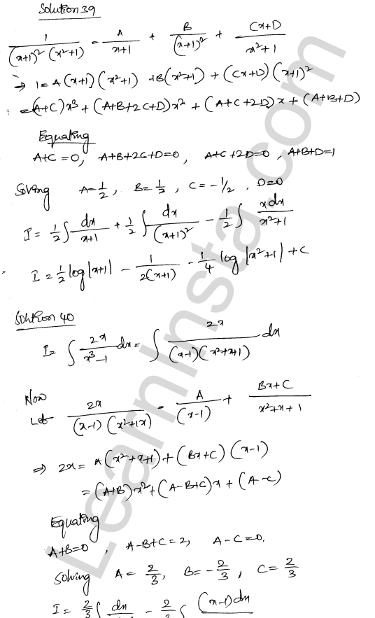Solution of RD Sharma class 12 chapter 19 Indefinite Integrals Ex 19.30 25