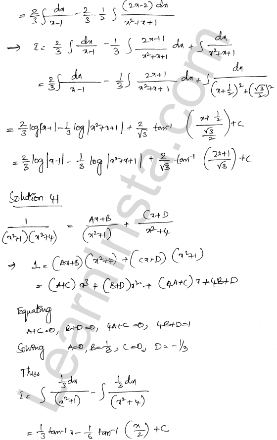 Solution of RD Sharma class 12 chapter 19 Indefinite Integrals Ex 19.30 26
