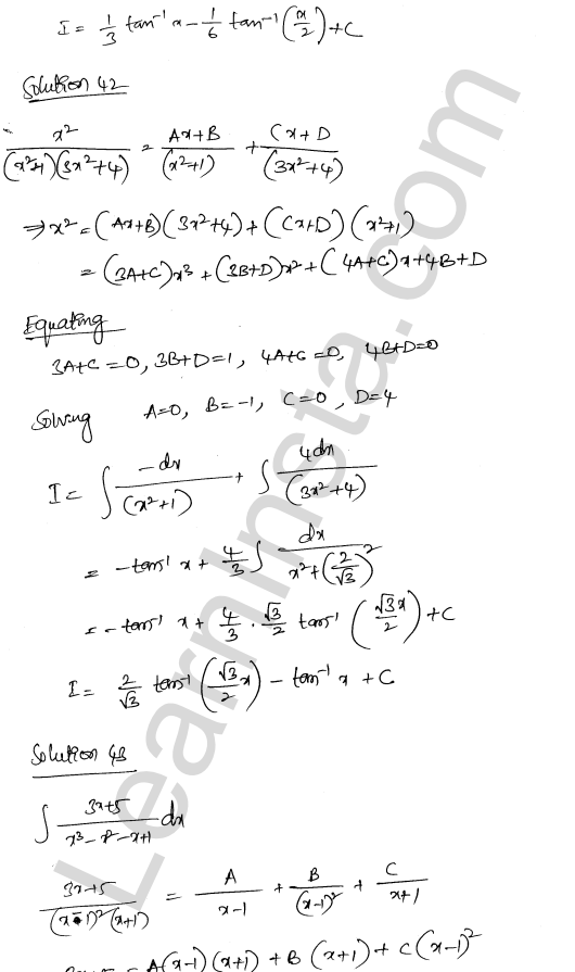 Solution of RD Sharma class 12 chapter 19 Indefinite Integrals Ex 19.30 27