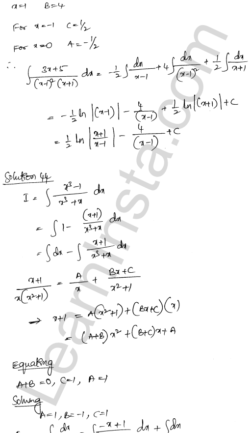 Class 12 RD Sharma solutions chapter 19 Indefinite Integrals Ex 19.30 28
