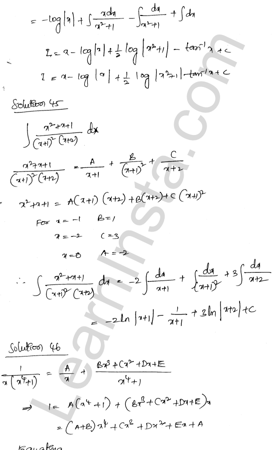 Class 12 RD Sharma solutions chapter 19 Indefinite Integrals Ex 19.30 29
