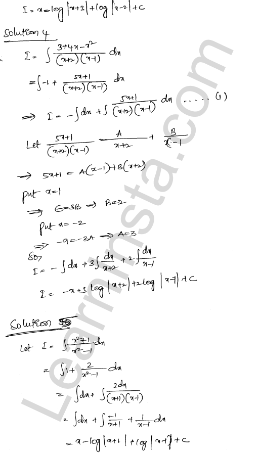 RD Sharma Class 12 Solutions Chapter 19 Indefinite Integrals Ex 19.30 3