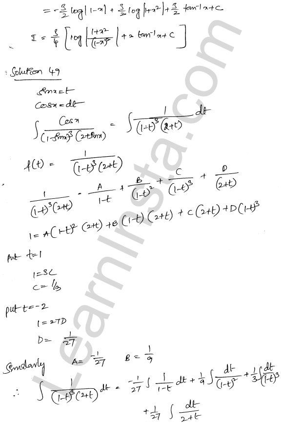 Class 12 RD Sharma solutions chapter 19 Indefinite Integrals Ex 19.30 32