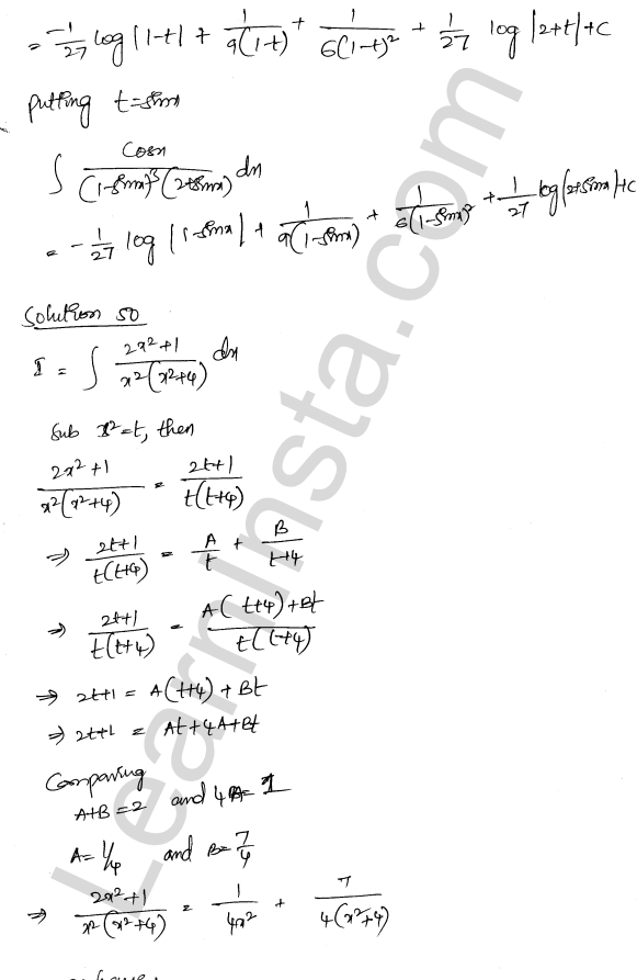 Class 12 RD Sharma maths solutions chapter 19 Indefinite Integrals Ex 19.30 33