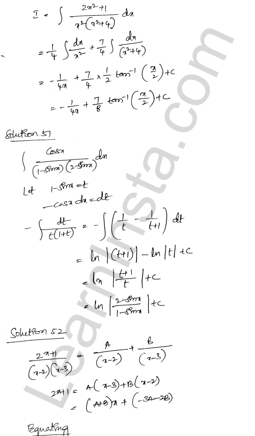 Class 12 RD Sharma maths solutions chapter 19 Indefinite Integrals Ex 19.30 34