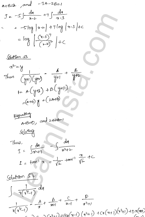 Class 12 RD Sharma maths solutions chapter 19 Indefinite Integrals Ex 19.30 35