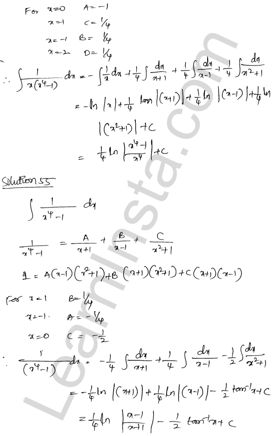 Class 12 RD Sharma maths solutions chapter 19 Indefinite Integrals Ex 19.30 36