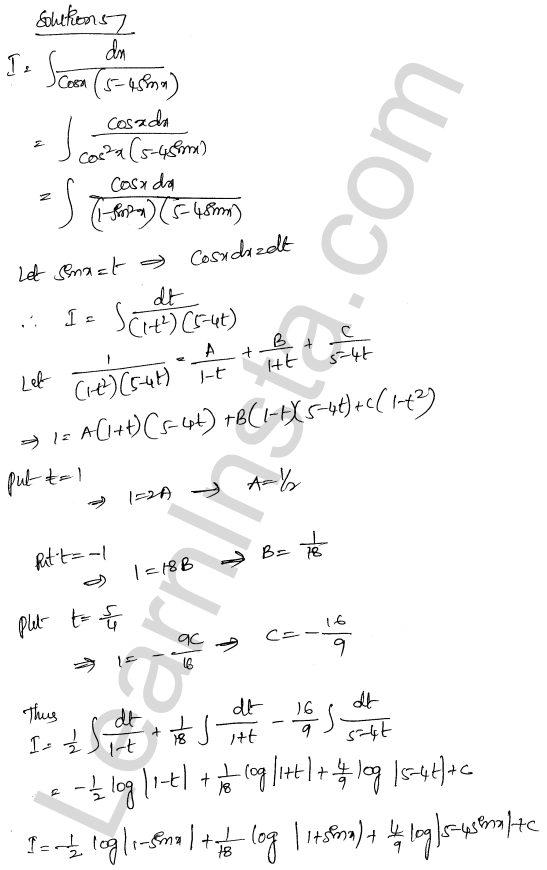 Class 12 RD Sharma maths solutions chapter 19 Indefinite Integrals Ex 19.30 37