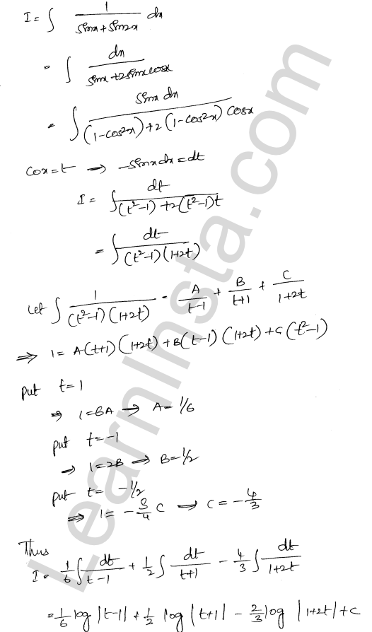 RD Sharma Class 12 Solutions Chapter 19 Indefinite Integrals Ex 19.30 39