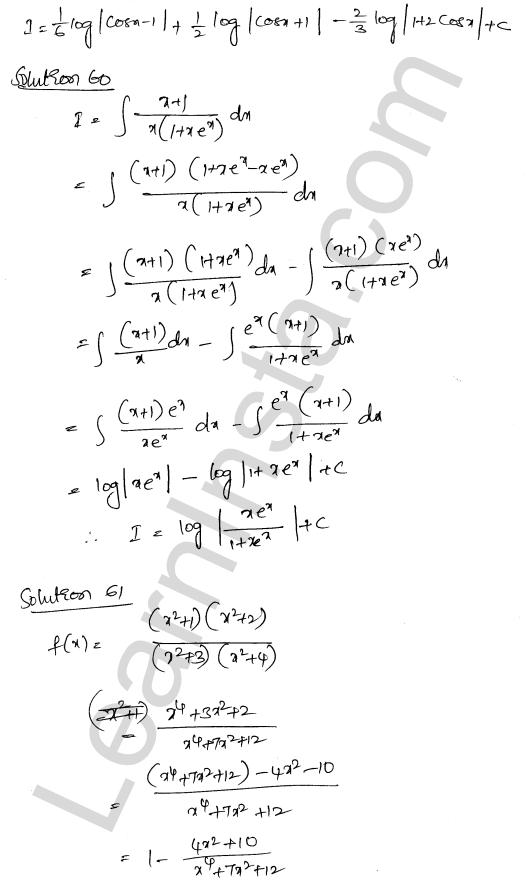 RD Sharma Class 12 Solutions Indefinite Integrals Chapter 19 Ex 19.30 40
