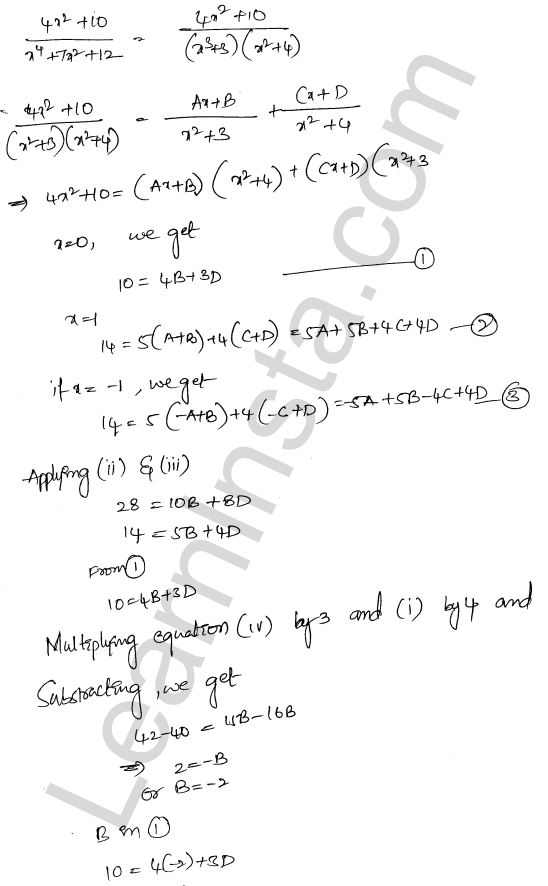 RD Sharma Solutions Class 12 Indefinite Integrals Chapter 19 Ex 19.30 41