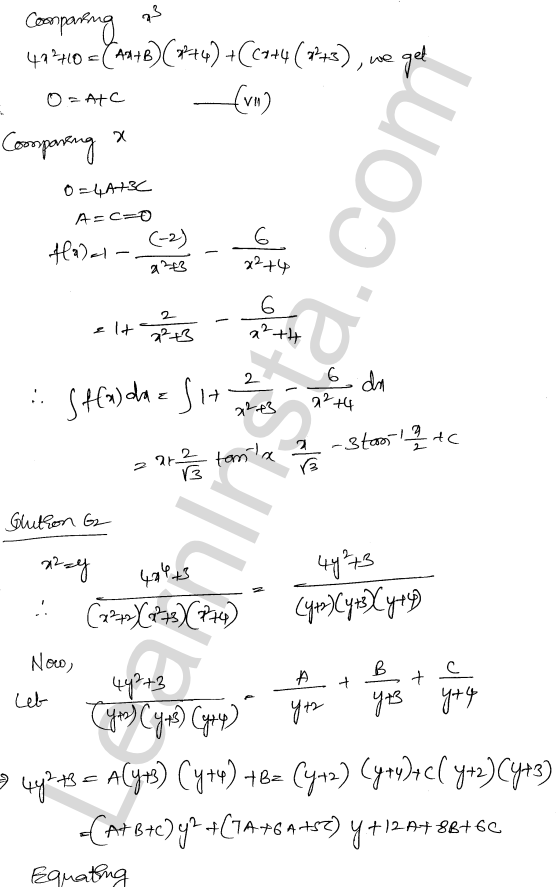 RD Sharma Class 12 Maths Solutions Chapter 19 Indefinite Integrals Ex 19.30 42