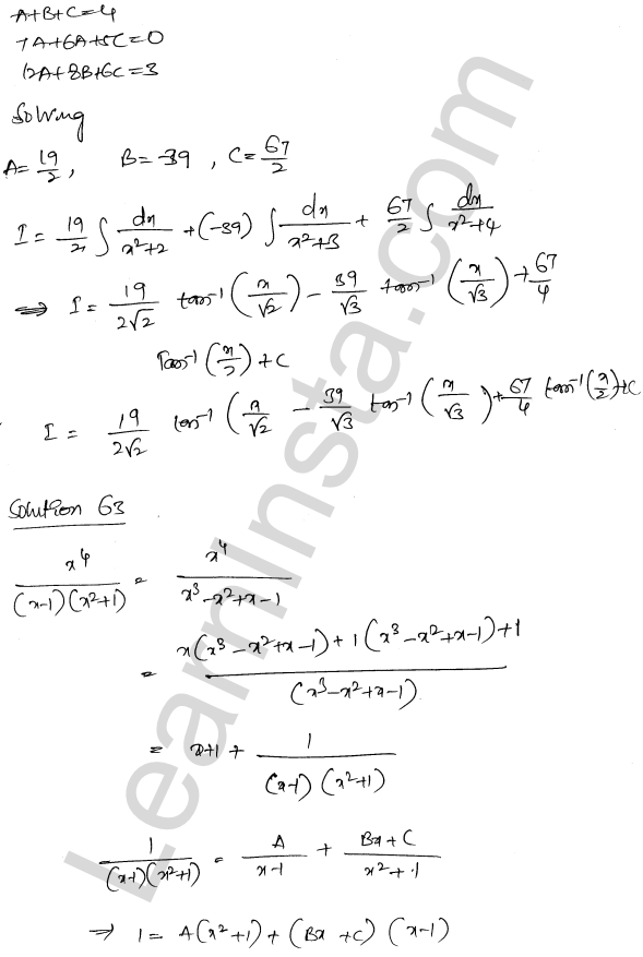 Solution of RD Sharma class 12 chapter 19 Indefinite Integrals Ex 19.30 43