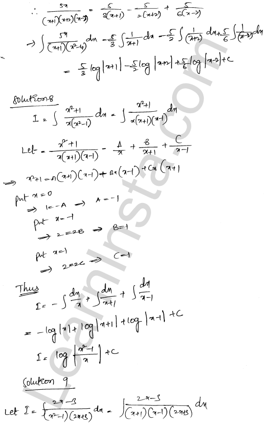 RD Sharma Class 12 Solutions Chapter 19 Indefinite Integrals Ex 19.30 5