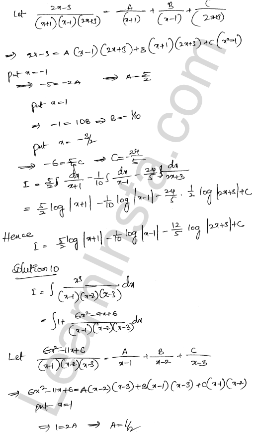 RD Sharma Class 12 Solutions Indefinite Integrals Chapter 19 Ex 19.30 6