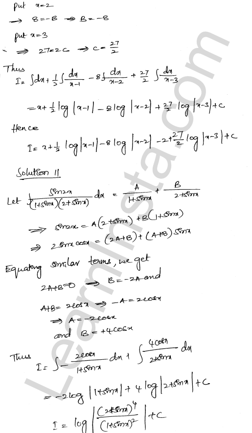 RD Sharma Class 12 Solutions Indefinite Integrals Chapter 19 Ex 19.30 7