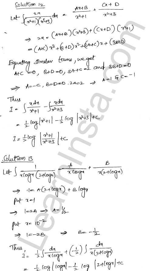 RD Sharma Class 12 Solutions Indefinite Integrals Chapter 19 Ex 19.30 8