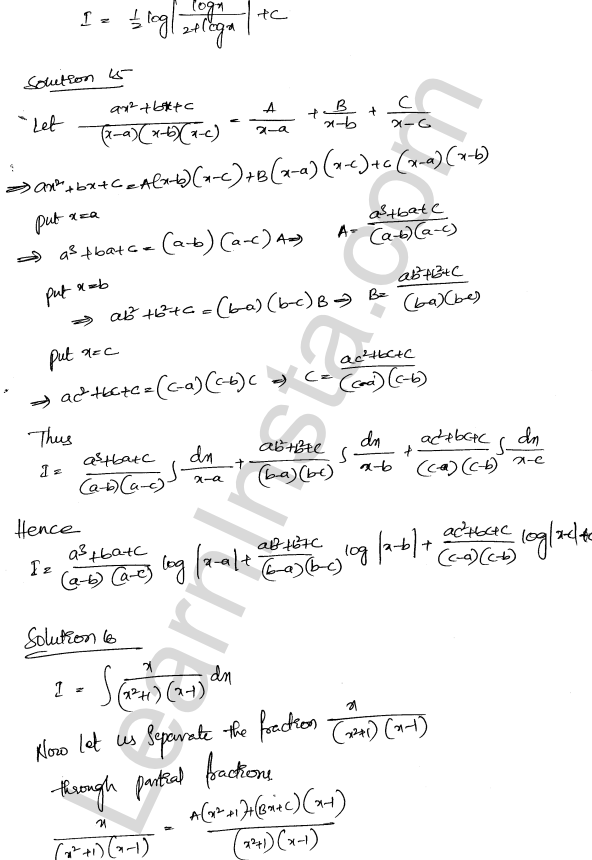 RD Sharma Class 12 Solutions Indefinite Integrals Chapter 19 Ex 19.30 9