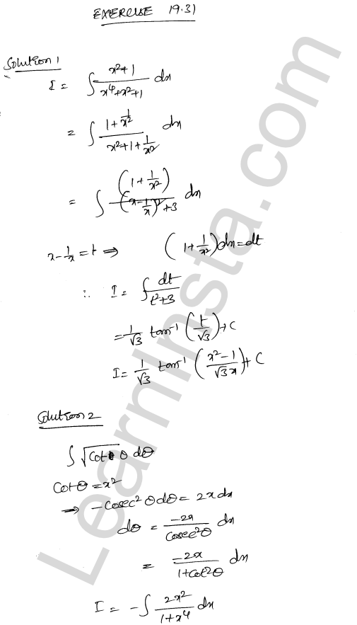 RD Sharma Class 12 Solutions Chapter 19 Indefinite Integrals Ex 19.31 1