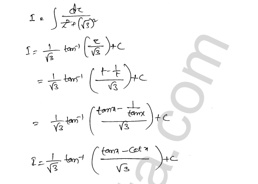 RD Sharma Solutions Class 12 Indefinite Integrals Chapter 19 Ex 19.31 10