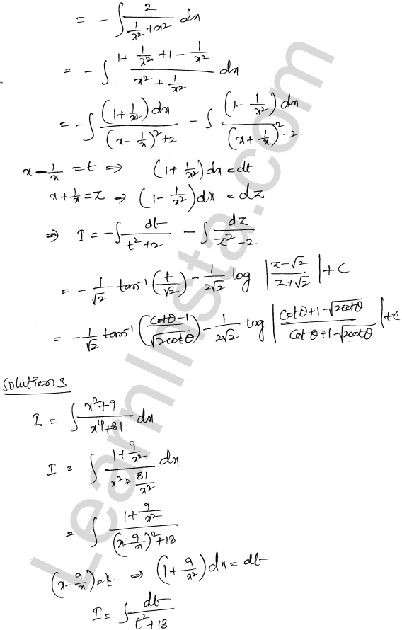 RD Sharma Class 12 Solutions Indefinite Integrals Chapter 19 Ex 19.31 2