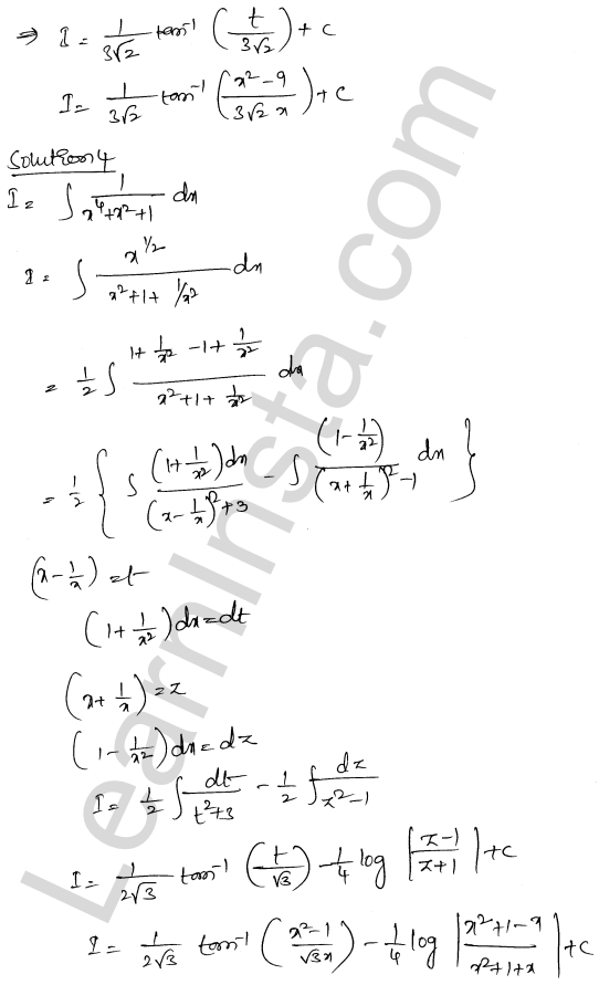 RD Sharma Solutions Class 12 Indefinite Integrals Chapter 19 Ex 19.31 3