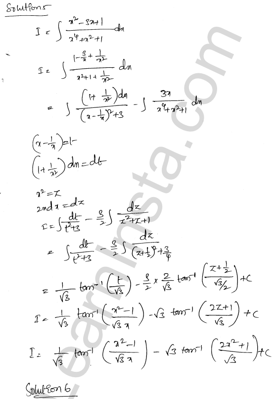 RD Sharma Class 12 Maths Solutions Chapter 19 Indefinite Integrals Ex 19.31 4