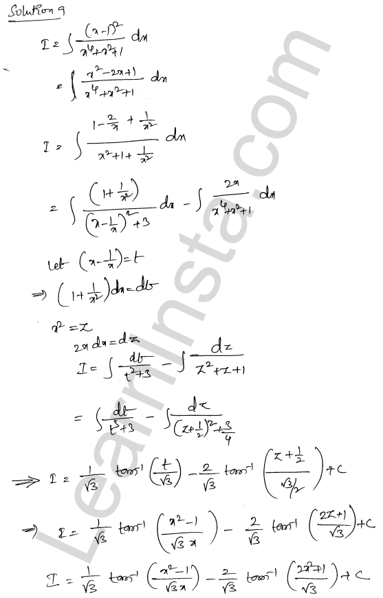 Class 12 RD Sharma maths solutions chapter 19 Indefinite Integrals Ex 19.31 7