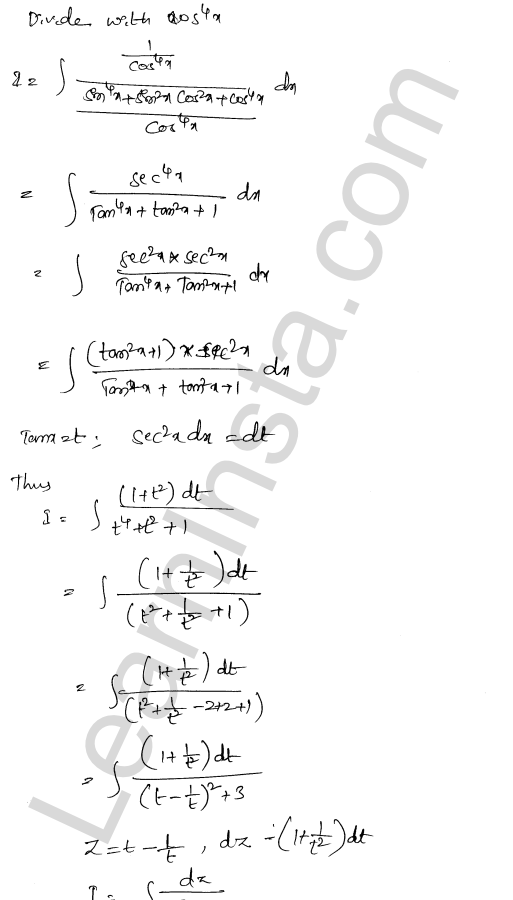 RD Sharma Class 12 Solutions Indefinite Integrals Chapter 19 Ex 19.31 9