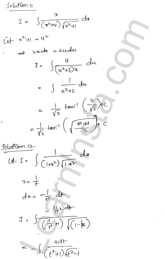 RD Sharma Class 12 Maths Solutions Chapter 19 Indefinite Integrals Ex 19.32 10