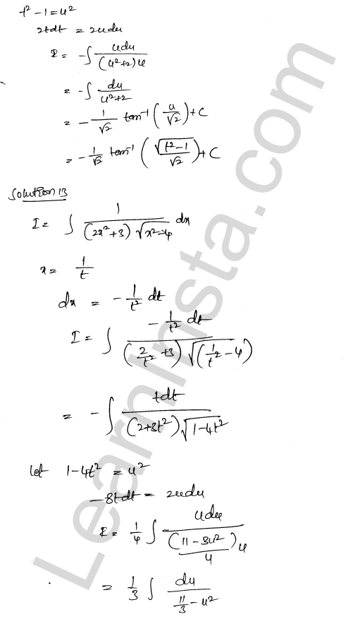 Solution of RD Sharma class 12 chapter 19 Indefinite Integrals Ex 19.32 11
