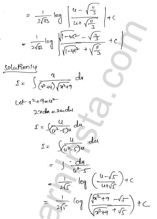 Class 12 RD Sharma solutions chapter 19 Indefinite Integrals Ex 19.32 12