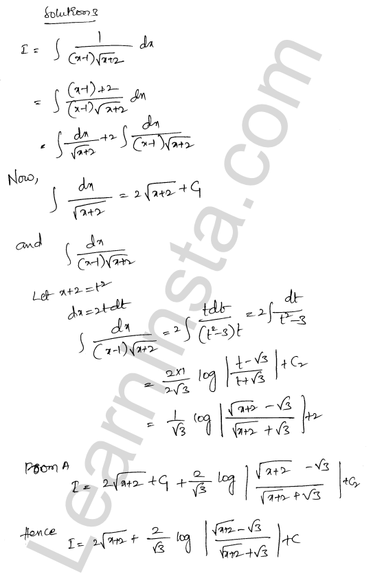RD Sharma Class 12 Solutions Chapter 19 Indefinite Integrals Ex 19.32 2