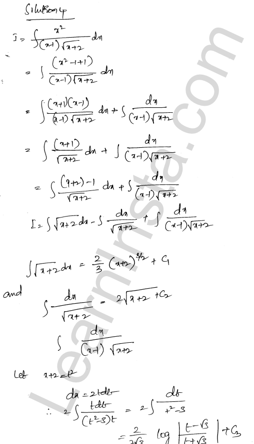 RD Sharma Class 12 Solutions Indefinite Integrals Chapter 19 Ex 19.32 3