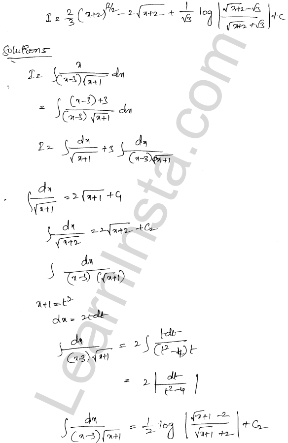 RD Sharma Solutions Class 12 Indefinite Integrals Chapter 19 Ex 19.32 4