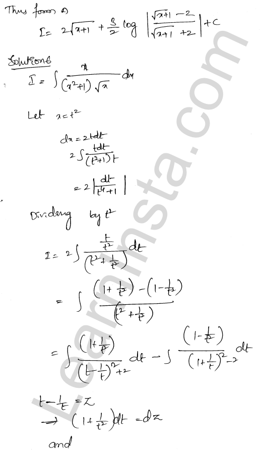 RD Sharma Class 12 Maths Solutions Chapter 19 Indefinite Integrals Ex 19.32 5