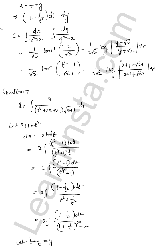 Solution of RD Sharma class 12 chapter 19 Indefinite Integrals Ex 19.32 6