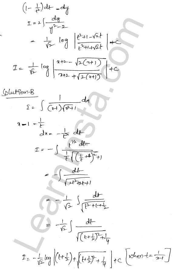 Class 12 RD Sharma solutions chapter 19 Indefinite Integrals Ex 19.32 7