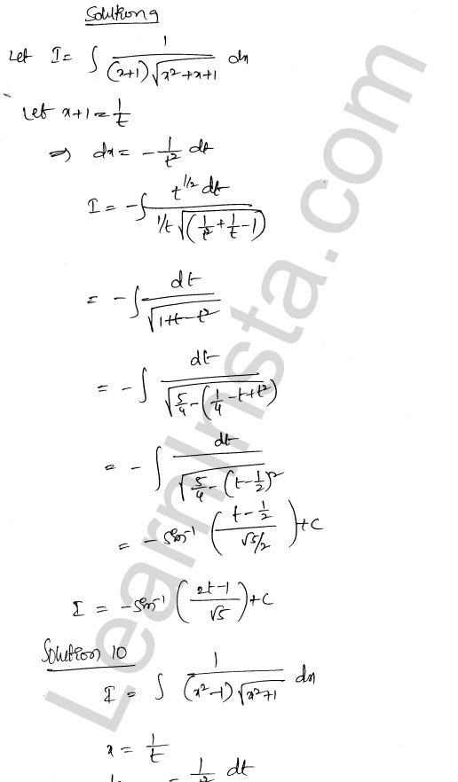 Class 12 RD Sharma maths solutions chapter 19 Indefinite Integrals Ex 19.32 8
